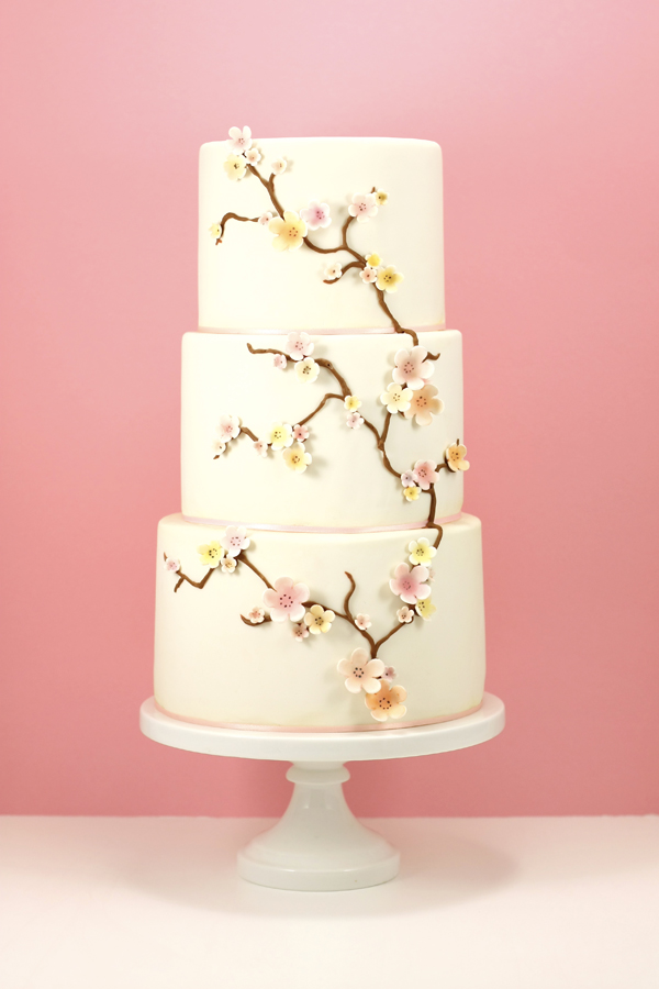 Cherry Blossom fondant  Wedding cake