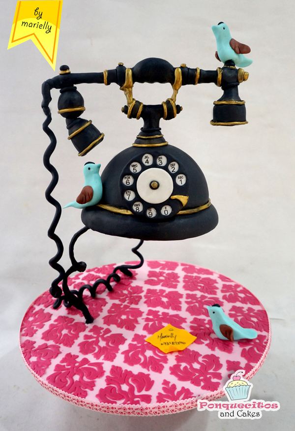Sculpted Telephone Gravity Defying Cake