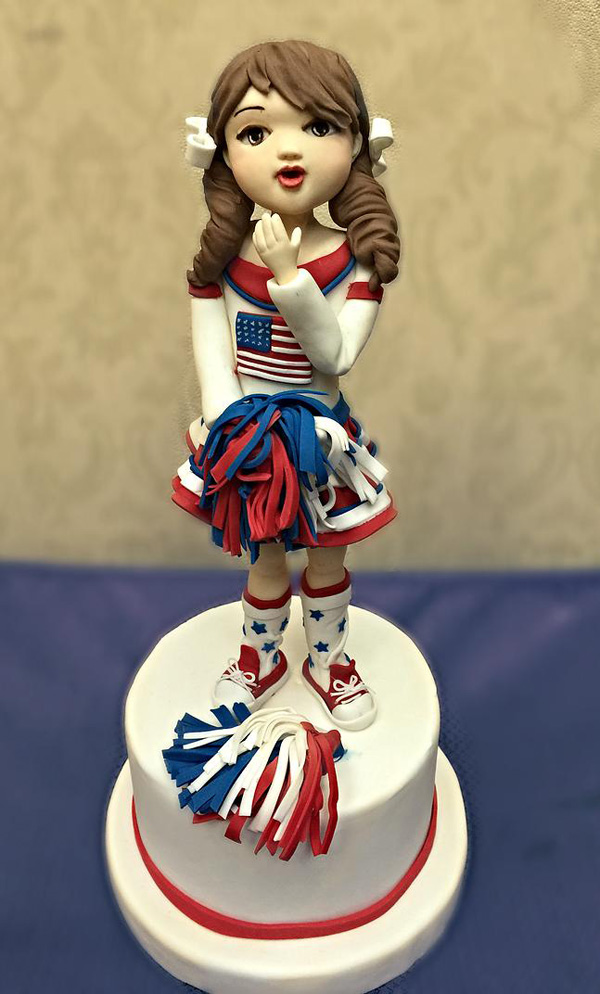 Sculpted Cheerleader