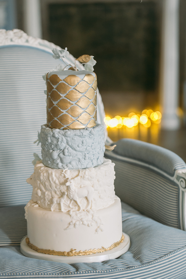 light blue and gold wedding cakes melanie boers satin 16847