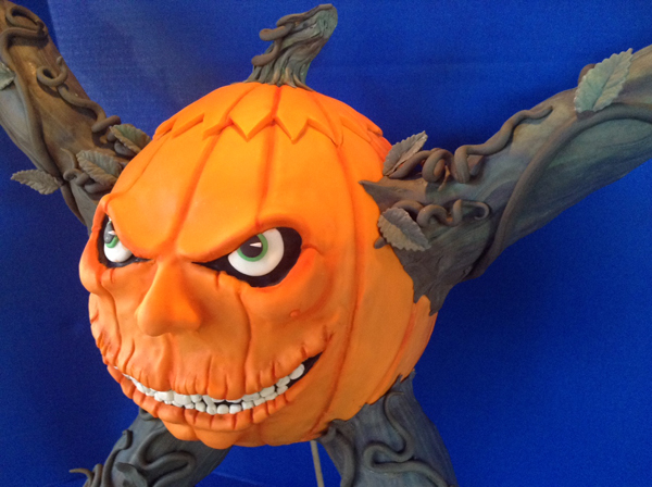 Sculpted Pumpkin Zombie