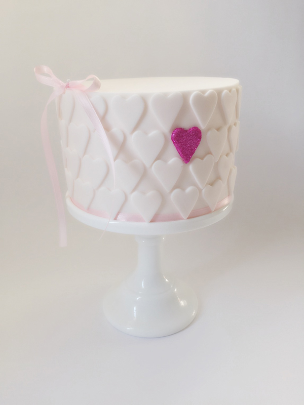 Mini  Ombre Heart Cake