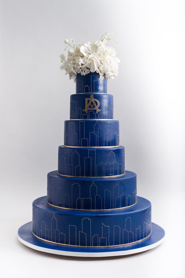 City Skyline Wedding Cake