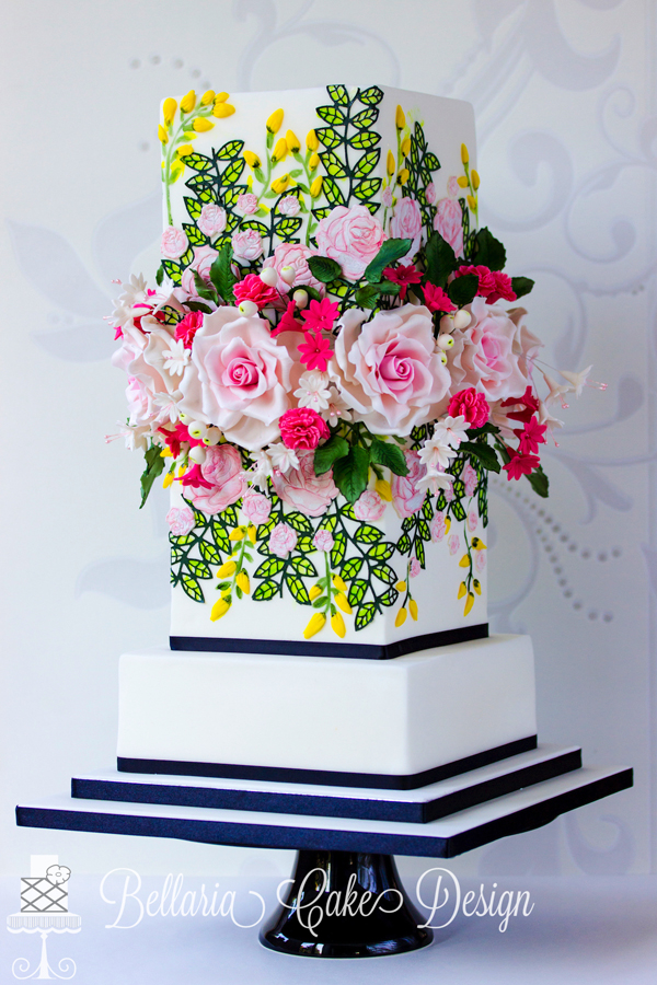 Striking Floral Cake