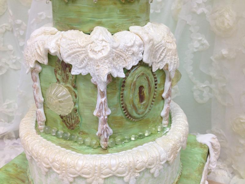 Shabby Chic Cake Closeup