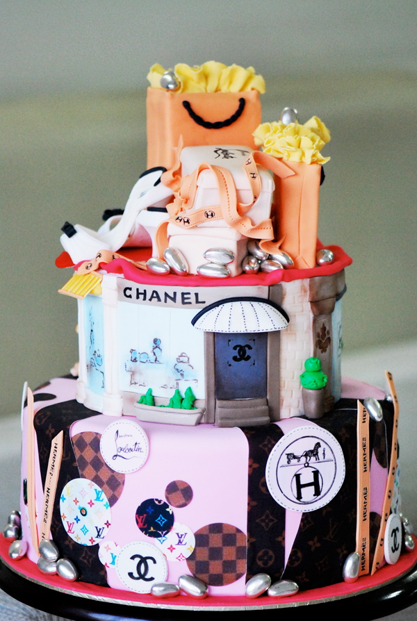 Designer Shopping Cake