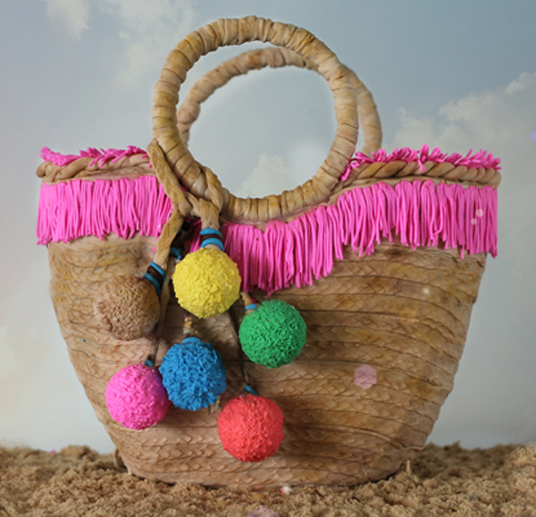 Sculpted fondant colorful Beach Bag