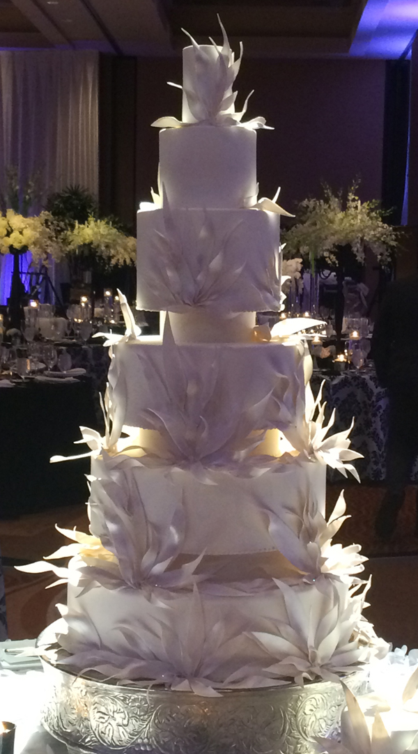 Tall White feather cake