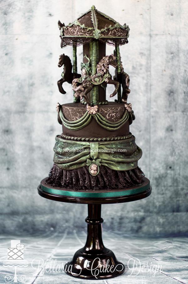 Steampunk Carousel fondant Cake