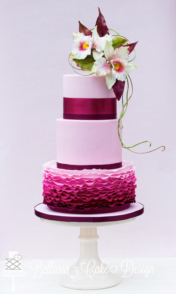fuschia wedding cake pictures riany clement satin 14627