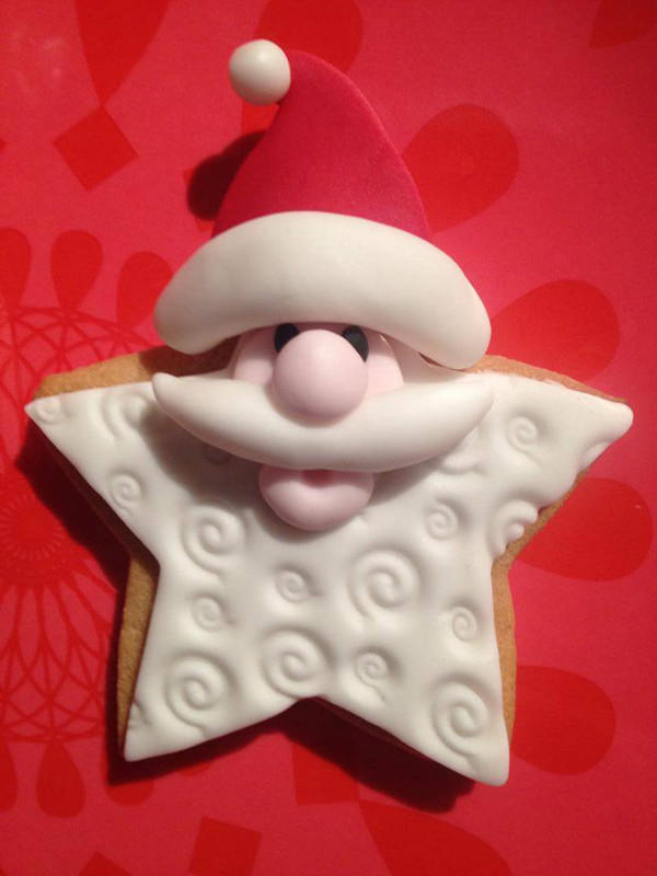 Santa Star Cookie