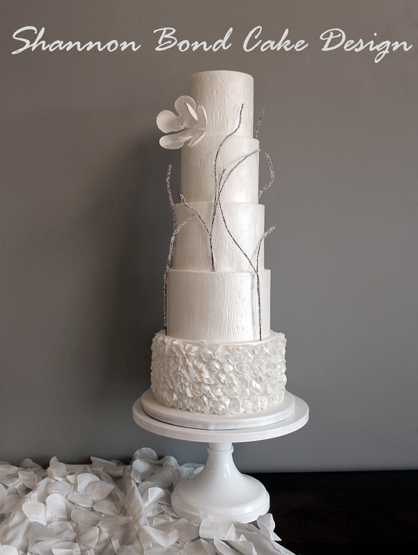 Icy White fondant Wedding Cake