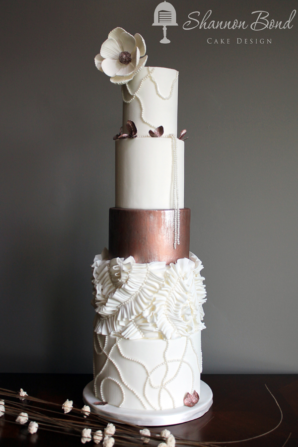 Copper Shine fondant Wedding Cake