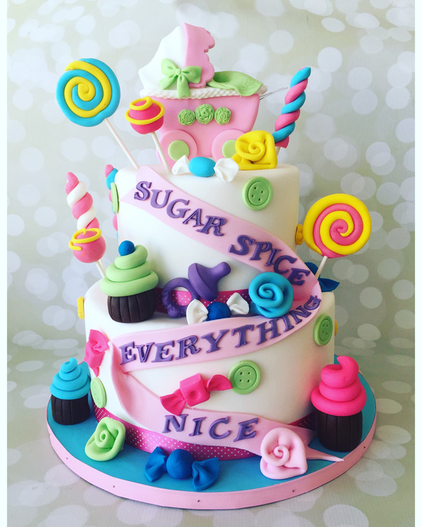Topsy Turvy Candy Cake