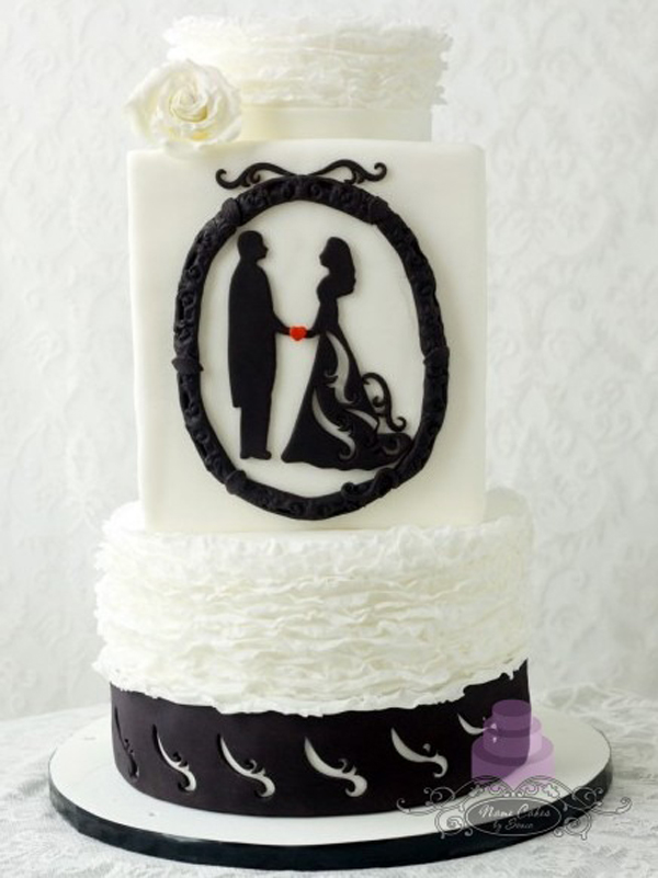 Wedding Silhouette Cake