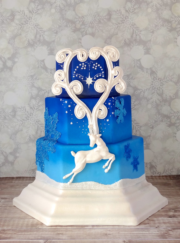 Winter Celebration Reindeer Cake