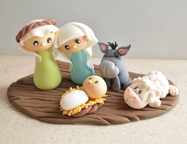 Fondant Christmas Nativity Figures
