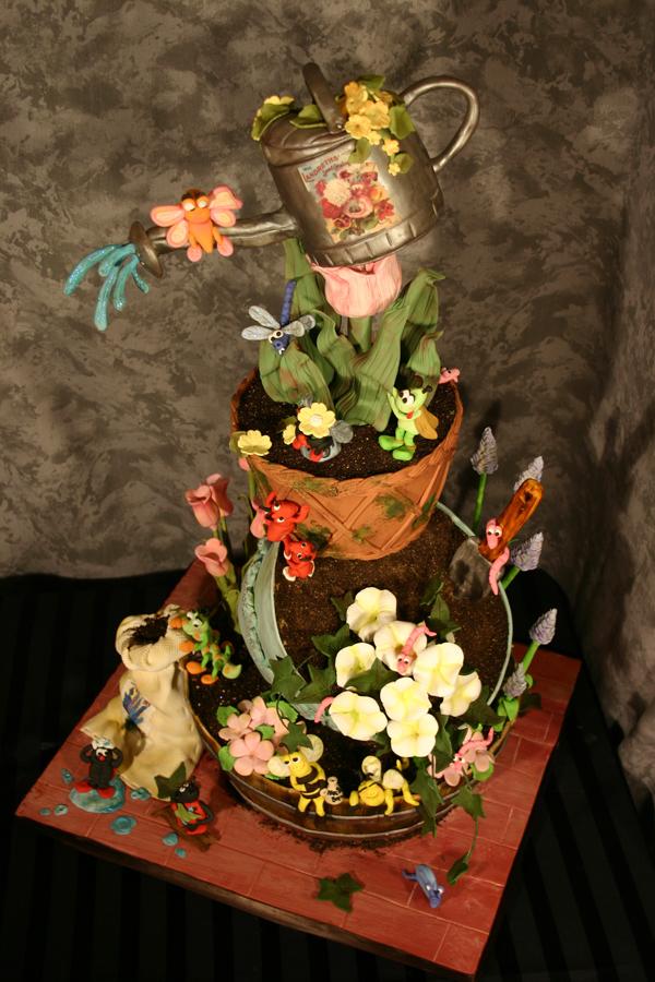 Happy Garden Cake