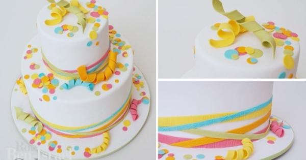 Miraculous Confetti Birthday Cake Satin Ice Funny Birthday Cards Online Elaedamsfinfo