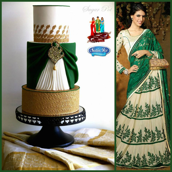 Elegant Indian Fashion Cake
