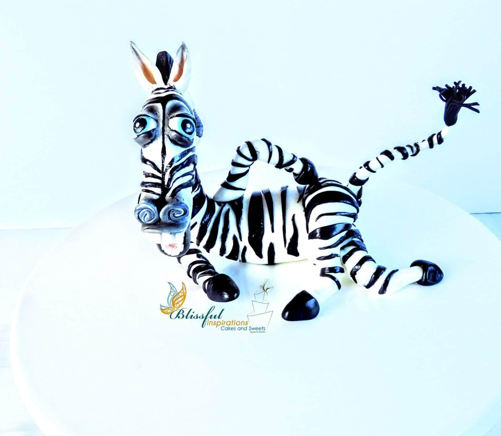 Zebra fondant figurine