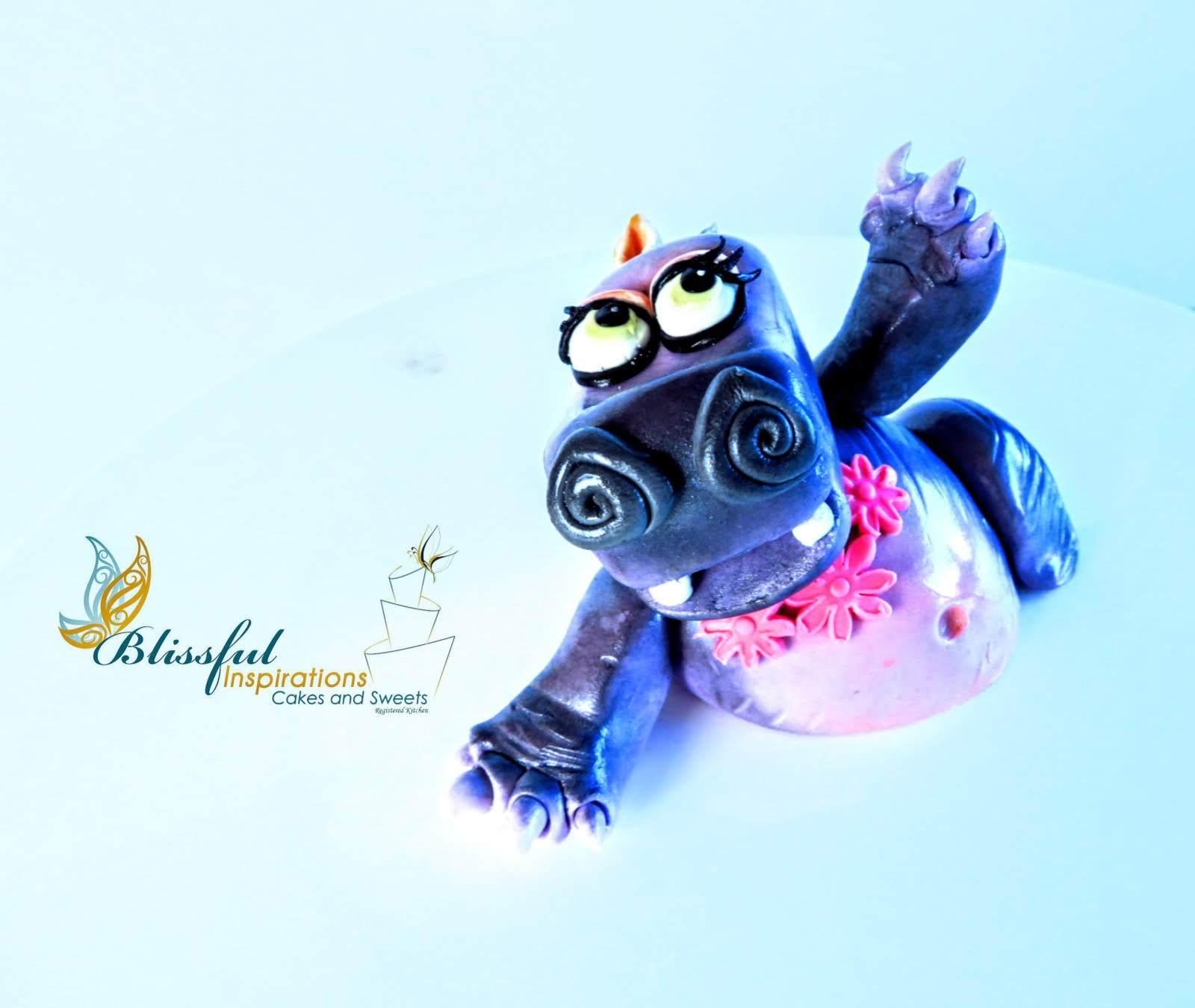 Hippo fondant figurine
