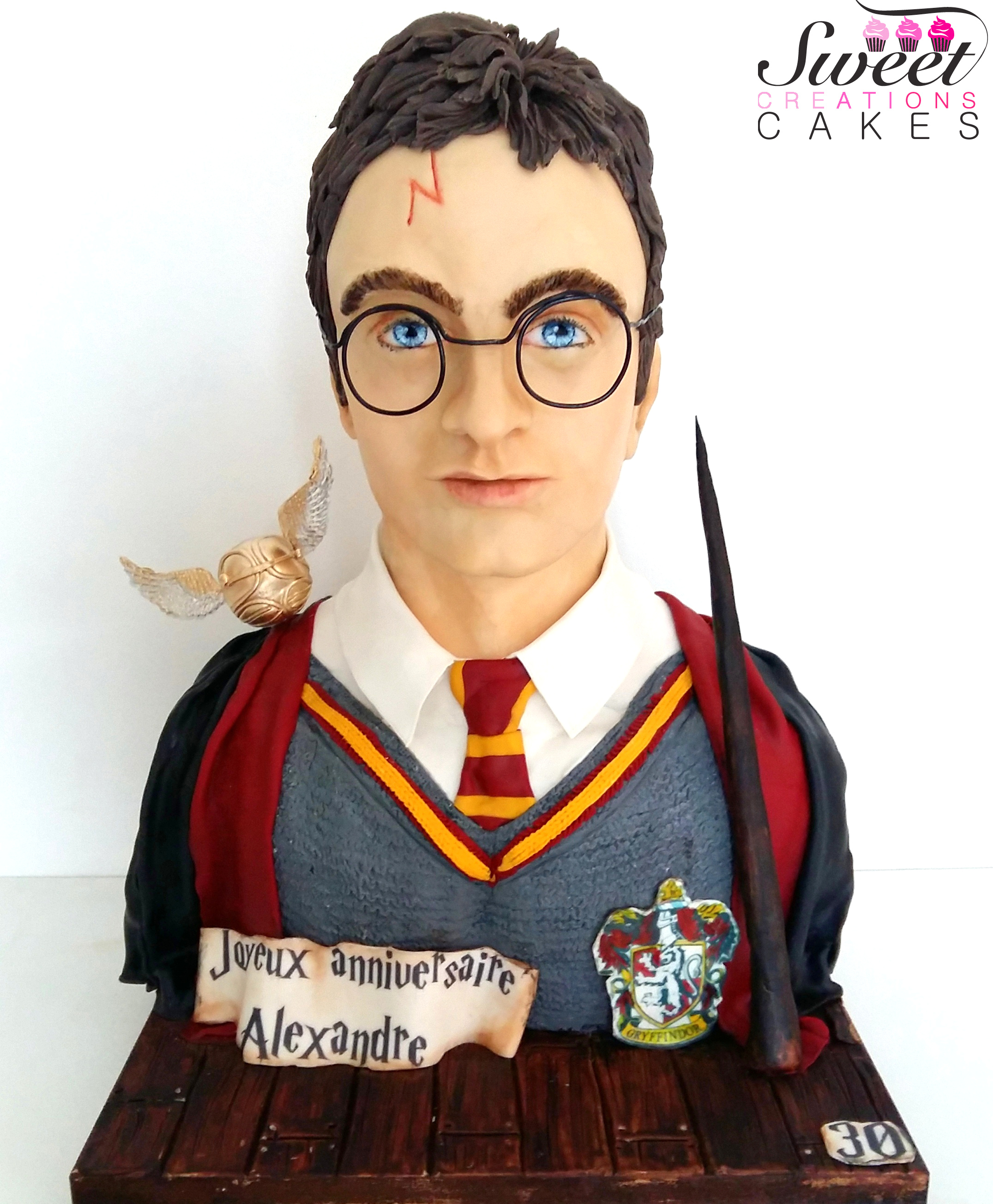 Harry Potter bust cake