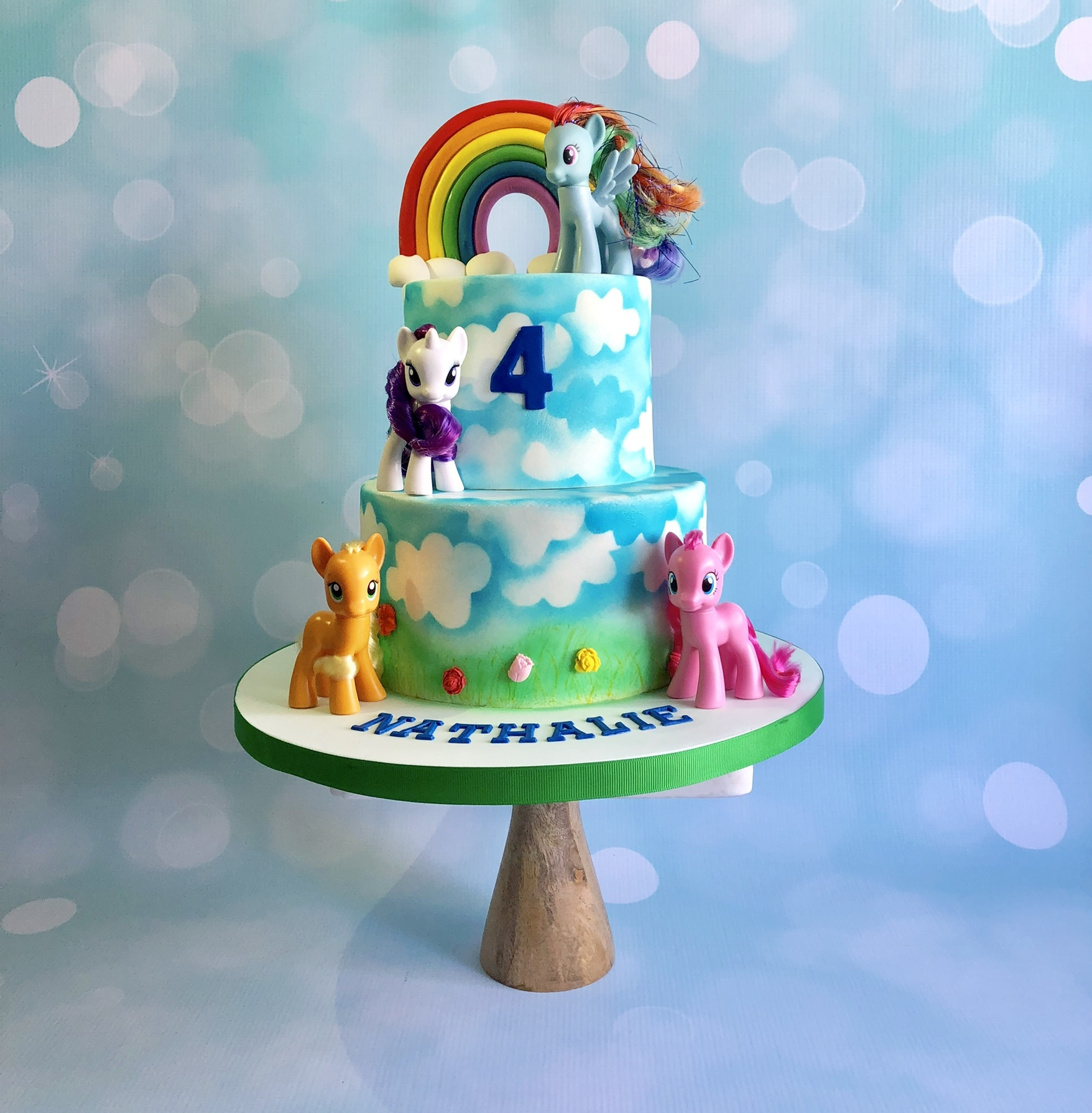 Rainbow My Little Pony Birthday Cake