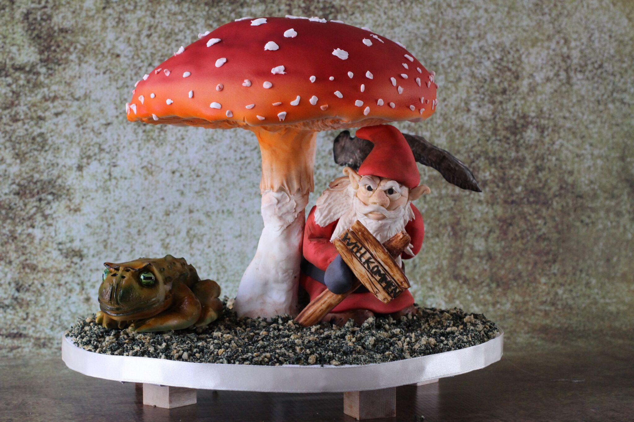 Mythical fondant gnome