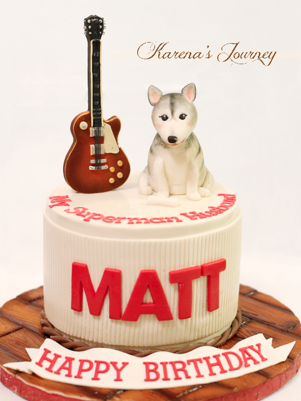 Dog and guitar birthday