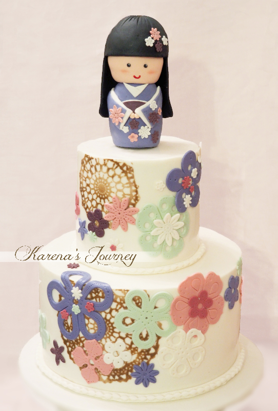 patterned geisha topper birthday