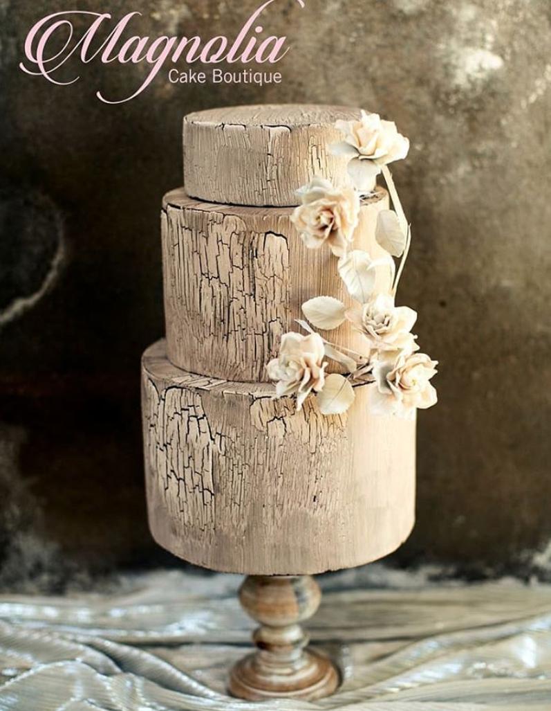 Concrete textured fondant cake