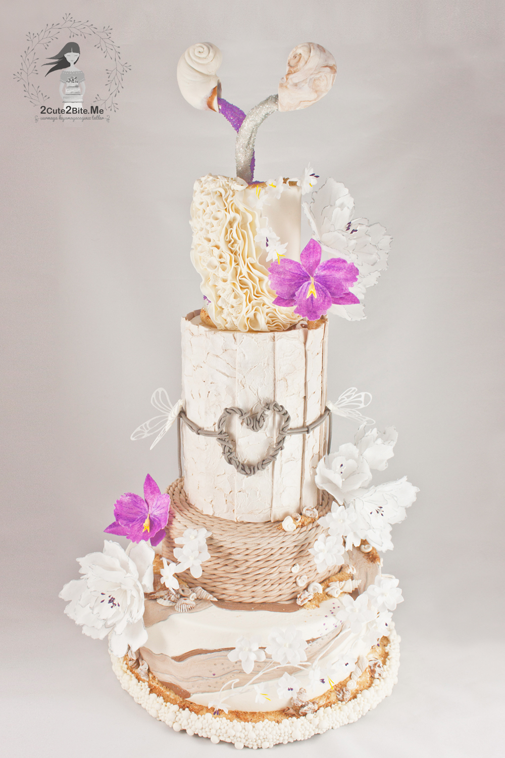 Ivory rustic frill wedding