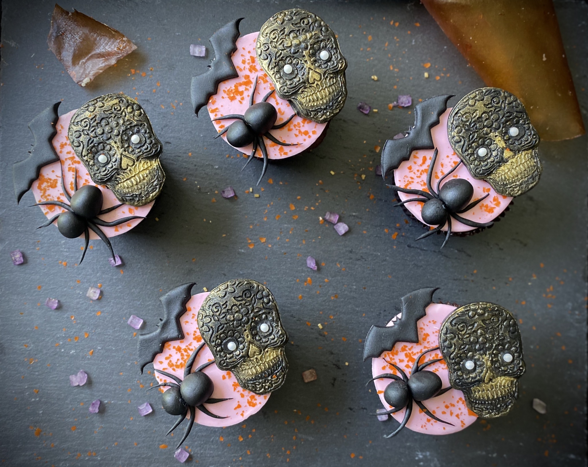 Spider and Skull Cookies
