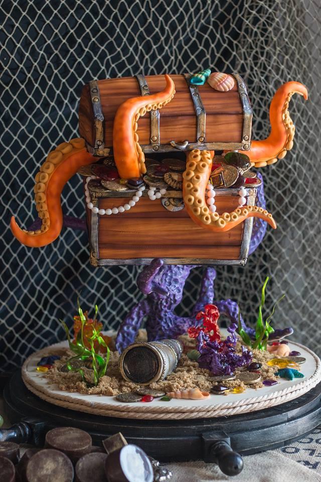 Under the sea pirate birthday cake