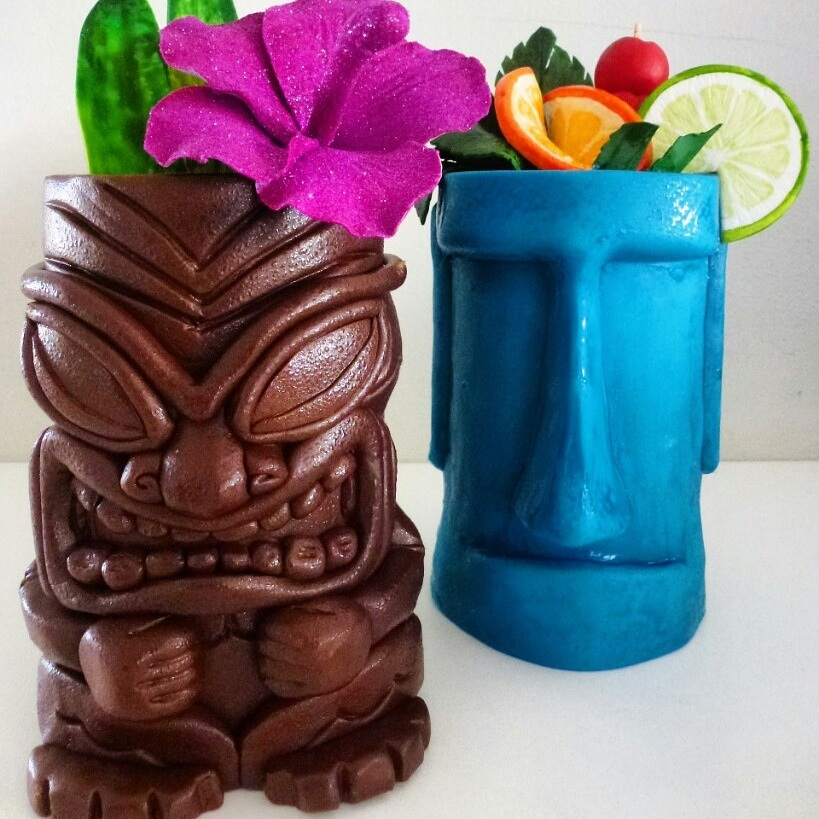 Tiki themed cake