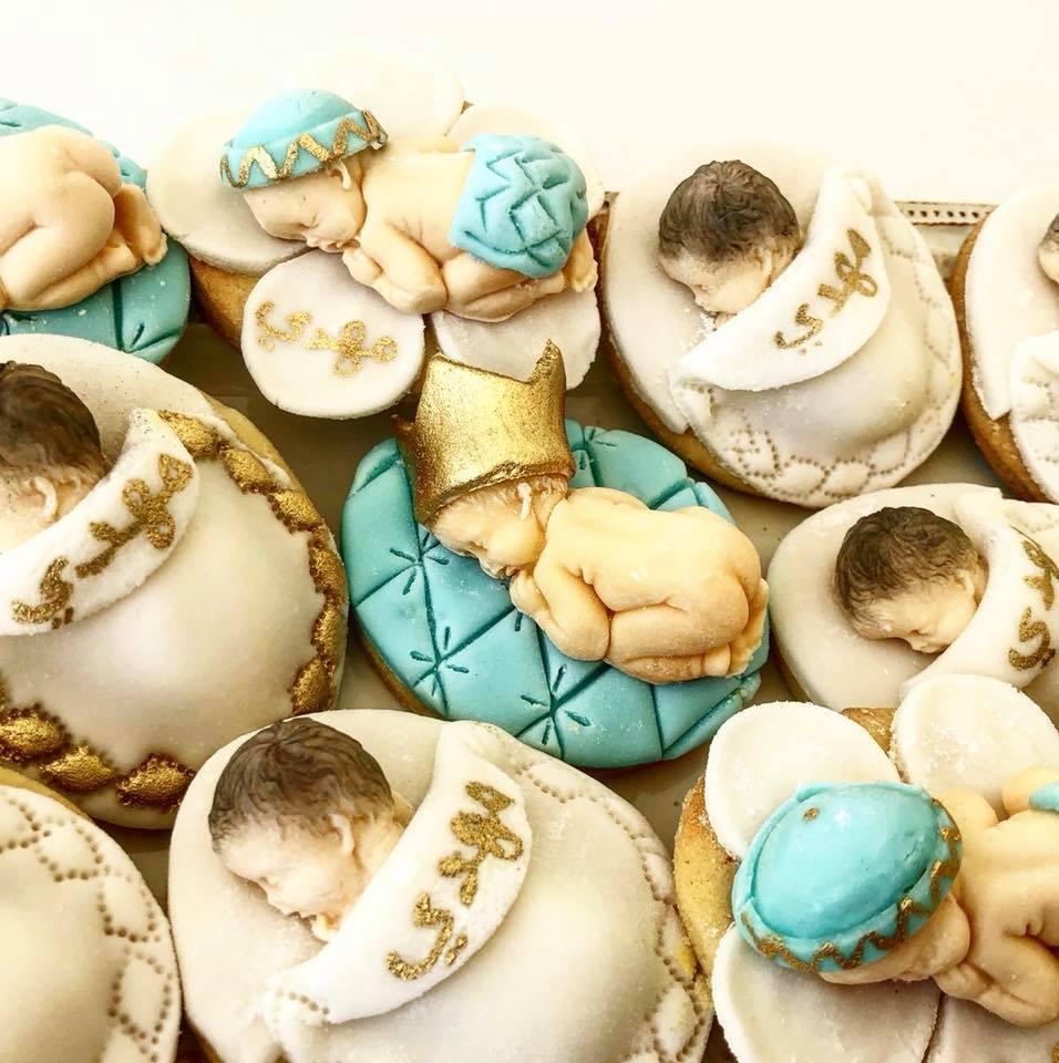 Baby prince fondant cookies