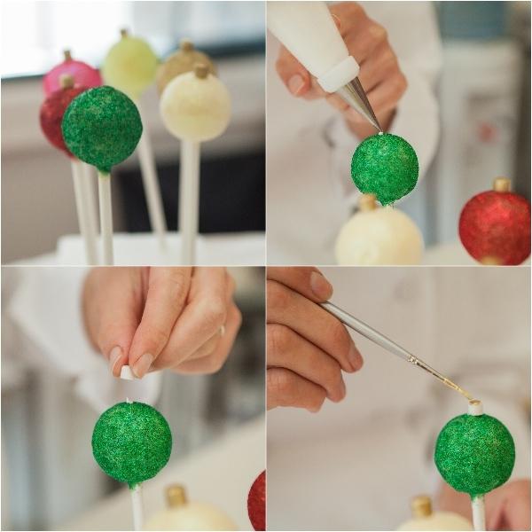 Christmas Cake Pops.Christmas Ornament Cake Pops Satin Ice