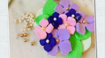 Lavendar Hydrangea Sweet Sara Cookies Step 6