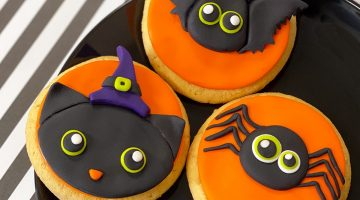 Spider Bat Cat Cookies