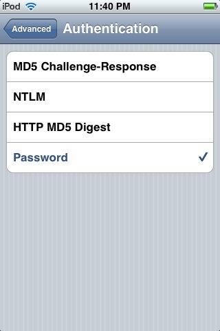 ipad webmail settings