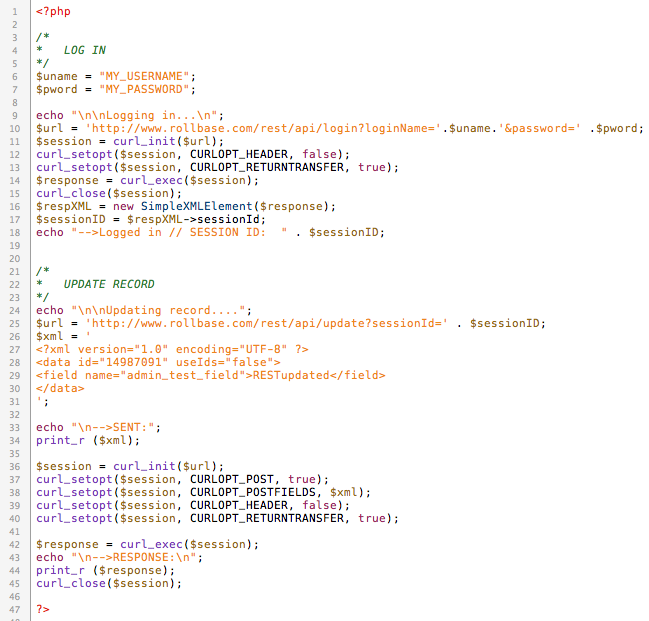 Example to do a POST command in REST API with PHP - Forum