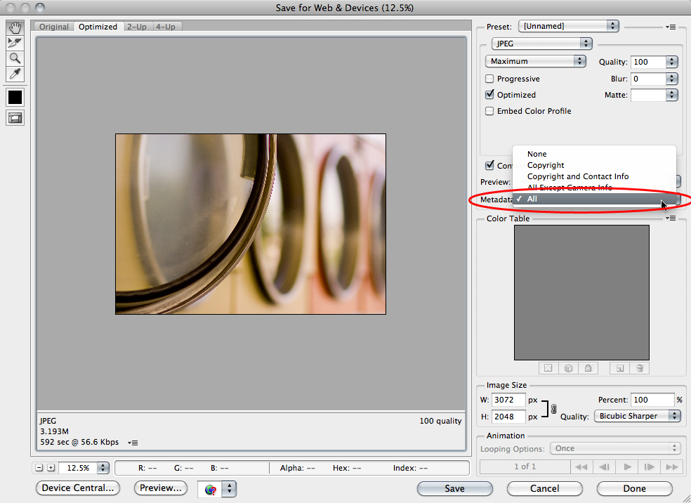 Saving and Reading Metadata in Adobe Photoshop Lightroom 2