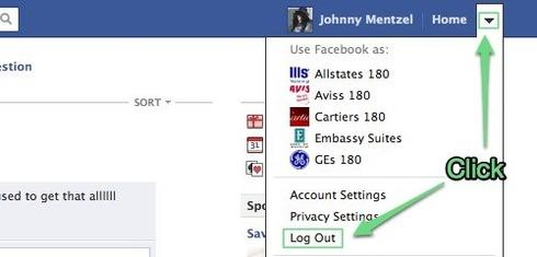 How do i log out of facebook socialvolt customer community
