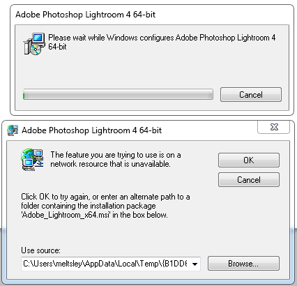 Lightroom: Directly opening  LRCAT files tries to reinstall