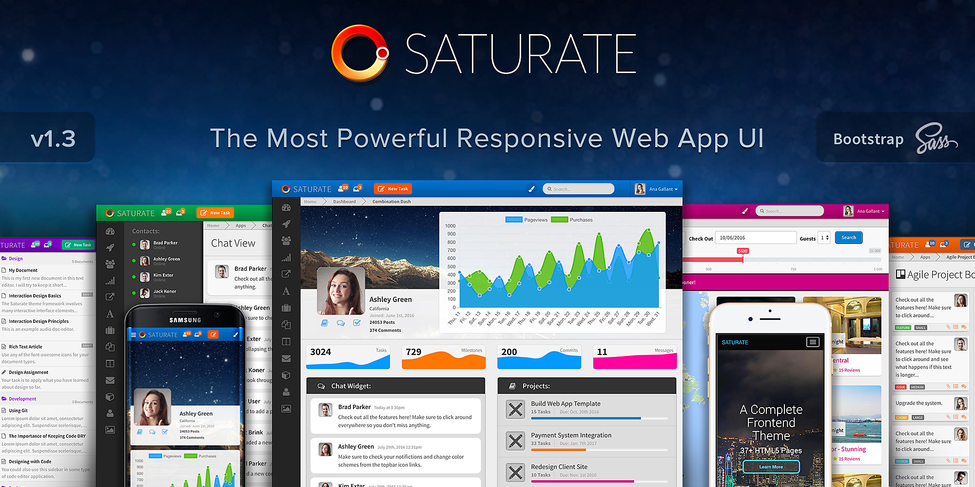 Saturate ui theme preview enlarged
