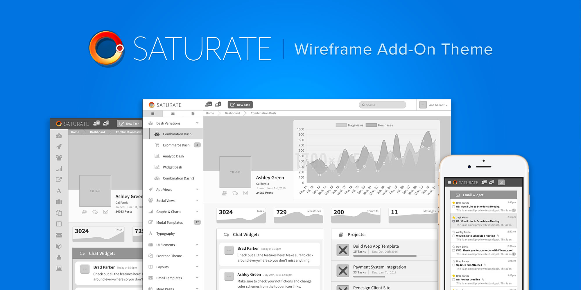 Saturate wireframe preview enlarged