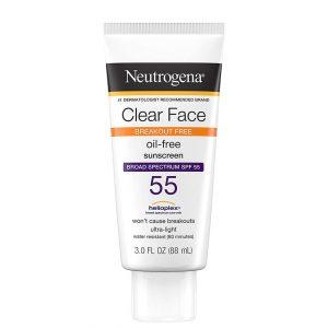 Neutrogena Clear Face Oil-Free Sunscreen SPF 55 88ml