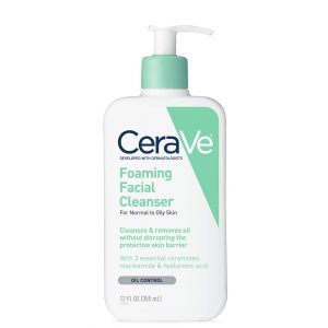 Cerave Foaming Face Cleanser for Normal to Oily Skin