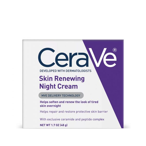 Cerave Skin Renewing Night Cream with Peptides